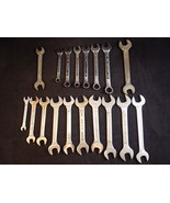 "SET OF 18 WRENCHES OPEN ENDED & 12 Point closed 3/16"" to 3/4"" - $14.84"
