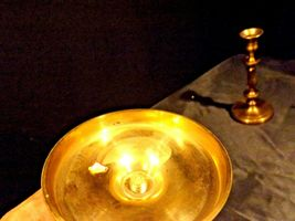 Pair Brass Metal Candle Sticks AA19-1528 Vintage image 5
