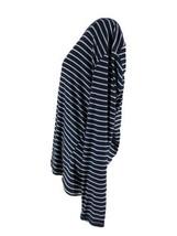 Stars Above Women's Smart Blue Striped Henley Pajama Shirt Size XXL NEW - $14.85
