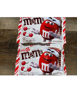 M & M's ~ Peppermint White Chocolate Candy 2-Bags 7.44 Oz Each ~ Expires... - $16.82