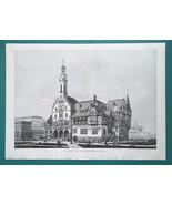 "CHICAGO 1893 World Fair German Building - VICTORIAN Era Print 15"" x 20"" - $25.20"