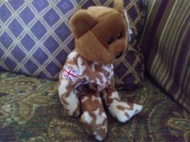 Ty Beanie Baby Hero Military UK Teddy Bear Stuffed Animal Plush image 6