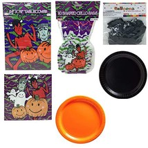 Halloween Monster Family Theme Party Supplies Pack,Tablecover,Goody - $27.48