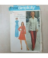 Vintage 1975 Simplicity Young Contemporary Fashion Pattern 7258 Size 10 ... - $21.85