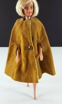 Barbie OOAK Gold Corduroy Cape 1970s Clothing - $19.79
