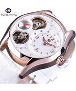 FORSINING Luxury, tourbillion, white leather strap, women's casual watch... - $64.99+