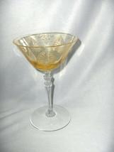 Vintage Fostoria Trojan Topaz Yellow Tall Champagne Goblet Clear Stem Shields - $54.45