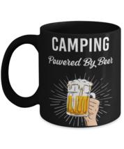 Funny Campfire Mug, Beer Camping Mug, Camping powered by BeerCeramic coffee  - $14.95