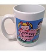 "Worlds Greatest Grandma Large Coffee Cup Mug CUTE 4.5"" tall x 3.25"" Diam - $10.00"