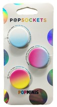 3 Pack PopSockets PopMinis Cell Phone Grip & Stand Sunset Rainbow NEW