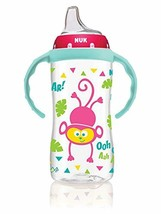 NUK Large Learner Cup, Pink Jungle Designs, 10oz 1pk, helps your baby - $12.86