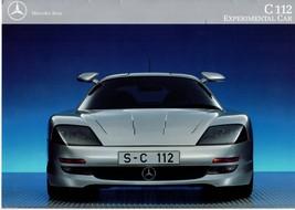 1991 Mercedes-Benz C 112 Experimental Concept Car Brochure: S-C 112 VERY... - $94.99