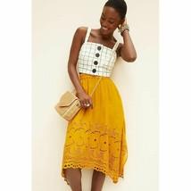 New Anthropologie Rumer Embroidered Midi Skirt Dhruv Kapoor  $160  X-SMALL - $53.46