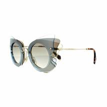 Miu Miu Sunglasses MU02SS VA00A7 63MM Azure Brown Grey Gradient - $148.49