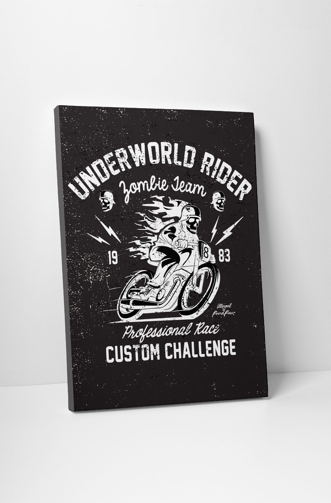 "Primary image for Underworld Rider Motorcycle Art Gallery Wrapped Canvas Print. 30""x20 or 20""x16"""