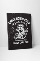 """Underworld Rider Motorcycle Art Gallery Wrapped Canvas Print. 30""""x20 or 20""""x16"""" - $42.52+"""