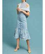 Anthropologie Eyelet Denim Skirt by Steele $189 Sz M - NWT - $99.99