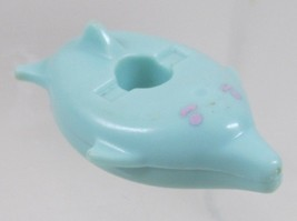 1990 Polly Pocket Dolls Bathtime Soap Dish - Blue Fish Float Bluebird Toys - $5.00