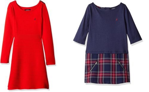 Nautica Toddler Girl's Dress Classic Styles NEW Red Blue Licensed