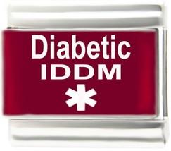 Diabetic IDDM Insulin Dependent Diabetes Mellitus Medic Alert 9mm Italian Charm - $7.91