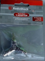 RadioShack 274-303 Heavy-Duty Y-Adapter - RCA Male to Dual RCA Female - NEW - $5.93