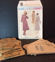 Vogue American Designer Sewing Pattern 1961 Jerry Silverman 10 Dress Coa... - $11.87