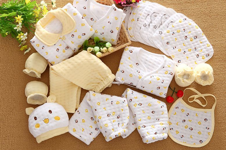 19 Pcs/Set Cotton Newborn Baby Girl Clothes Autumn Winter Baby Boy Clothing Set  - $31.38