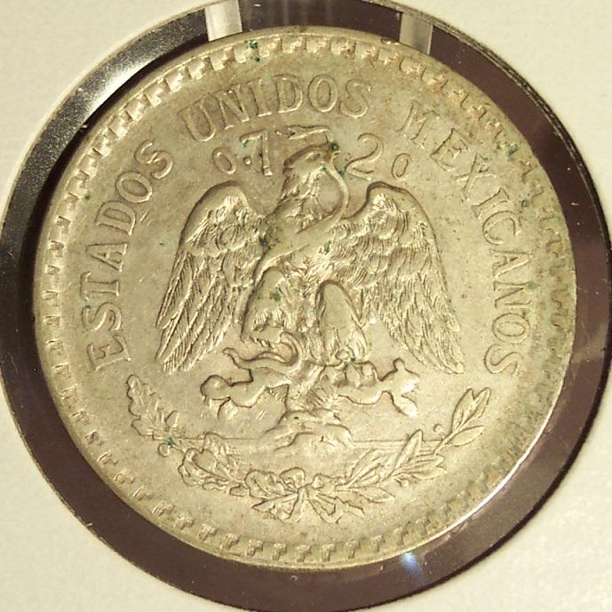 KM#455 1924 Silver Mexican Peso VF #019 image 5