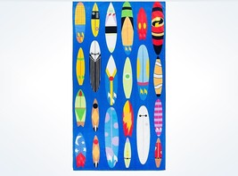 Disney Parks Mickey & Friends Character Surfboards Beach Towel New with Tags - $31.90