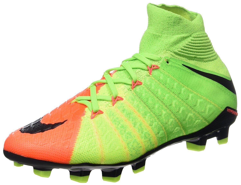57. 57. Previous. Nike Youth Hypervenom Phantom III 3 DF FG Soccer Cleat  GREEN BLACK ORANGE 882087 61bbc1975