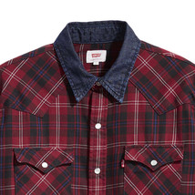 Levi's Men's Classic Western Pearl Snap Button Up Casual Plaid Dress Shirt image 2