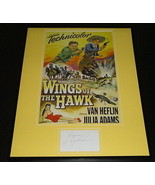 Abbe Lane Signed Framed 16x20 Photo Poster Display Wings of the Hawk - $98.99