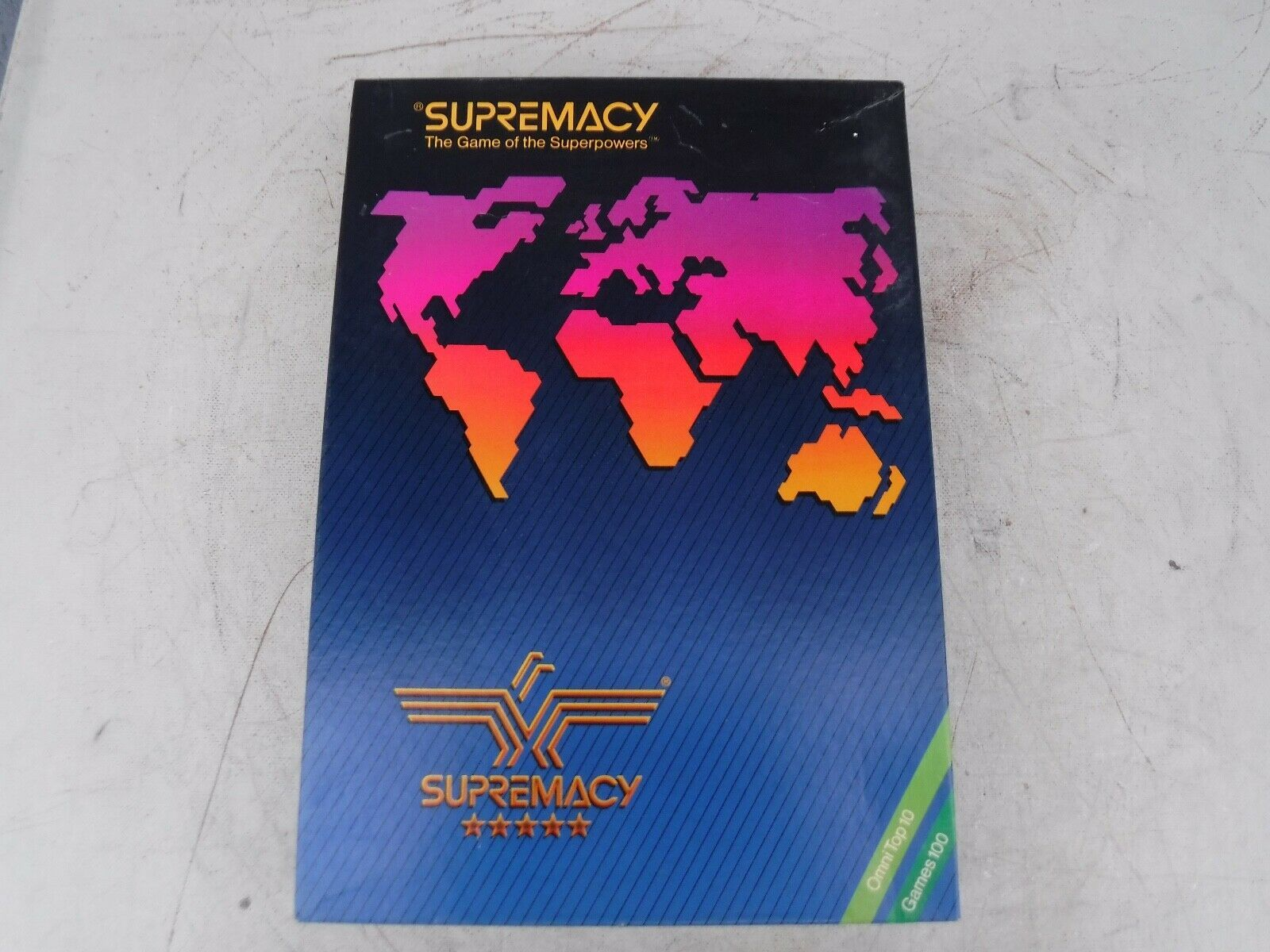 Vintage 1986 Supremacy Game of the Superpowers Global Domination Complete