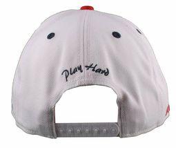 Flat Fitty Do More Work Wiz Khalifa SnapBack Baseball Cap Hat Red White Blue NWT image 5