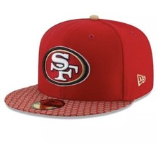 SAN FRANCISCO 49ERS NFL NEW ERA 59FIFTY OFFICIAL SIDELINE FITTED HAT CAP... - $29.70