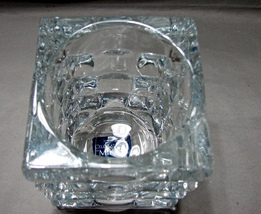 Mikasa Celebrations Crystal  Square Votive Holder in a  Beautiful Block Geometr image 3