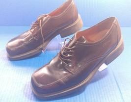 ALFANI Men's brown LACE-UP OXFORDS leather DRESS SHOES SIZE 10.5 - $44.08