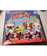 Littlest Pet Shop Board Game Prettiest Pet Show 2007 Hasbro 4 Animal fig... - $9.89
