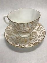 Gold leaf Tea coffee cup Porcelain Royal Stuart Spencer Stevenson Englan... - $41.57