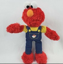 "Fisher Price Elmo 11"" Plush Yellow Shirt Overalls Sesame Street Muppet Doll - $13.31"