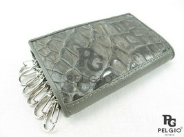 PELGIO Genuine Crocodile Skin Leather Trifold Keychain Key Holder Wallet... - $31.61