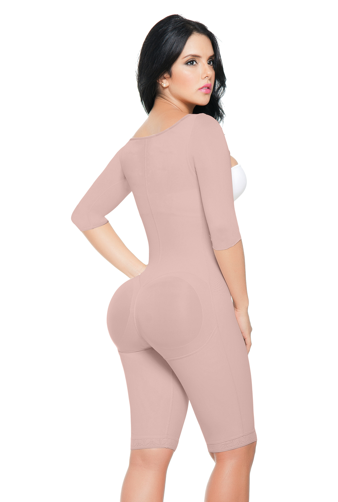Post-Surgical Front Hook Closure Powernet Bodysuit with Arm Compression to 4X
