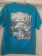 High Rock Lake Life North Carolina Size (L) dbl-sided T-Shirt Crappie Fi... - $18.02