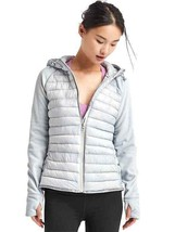Gap PrimaLoft Performance Fleece Zip Hooded Puffer Jacket, Blue, Size XL... - $76.94