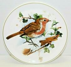 Vintage Royal Doulton England Bone China Gold Trimmed Ceramic Brown Bird... - $20.79