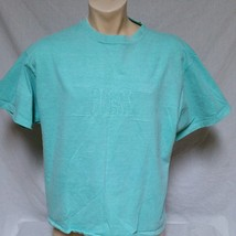 VTG Guess Jeans USA T Shirt Spell Out 80's ASAP Rocky 90's Sport Green L... - $49.99