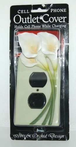 Ibis Orchid Design 33007 Cell Phone Charger Outlet Cover Duplex Single Lily