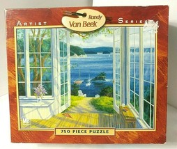 Randy Van Beek Island View Puzzle New Sealed 750 Pc Ocean Harbor Coast Hasbro - $32.17