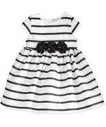 Marmellata Baby Girls' Black & White Strip Dress,Black/White, Size 24 M,... - $24.74