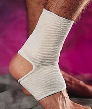 Ankle Support - Medium Beige knitted elastic. Open at the toe and heel. - $19.99